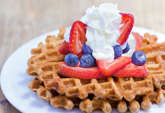 Super Healthy Whole Grain Waffles