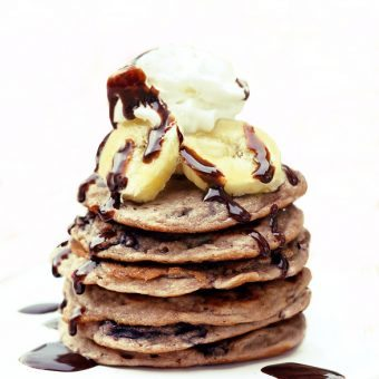 Banana Split Pancakes for One