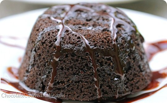 healthy chocolate lava cake