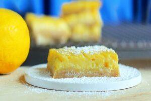 Healthy Lemon Squares