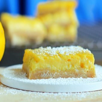 Healthy Lemon Squares