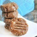 1/4 cup peanut butter, 1/8 tsp vanilla extract, 1/2 cup… Full recipe: http://chocolatecoveredkatie.com/2011/08/24/peanut-butter-cookie-dough-cookies/ @choccoveredkt