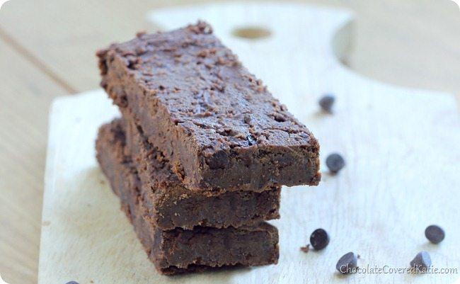 Homemade Fudge Brownie Chocolate Protein Bars