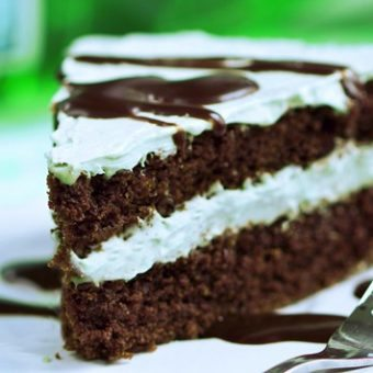 Frosted Mint Chocolate Double Layer Cake