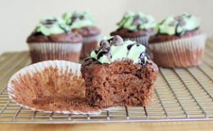 mint chocolate chip cupcakes