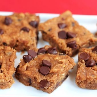 Nutella Chocolate Chip Blondies