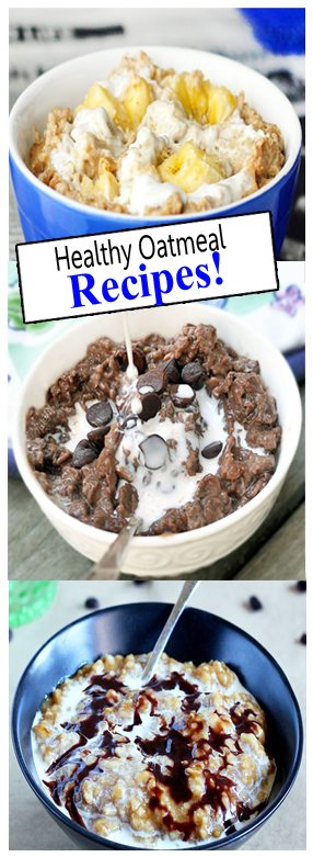 29 healthy oatmeal recipes, to add excitement to your daily breakfast routine: @choccoveredkt http://chocolatecoveredkatie.com/category/oatmeal-recipes/