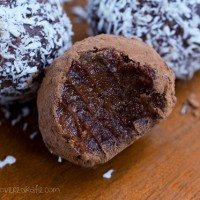 Raw Chocolate Fudge Balls – Nut Free, Low Fat