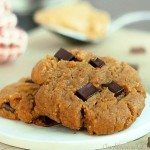 Peanut Butter Gingerbread Chocolate Chunk Cookies