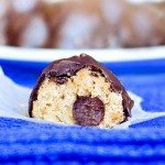 "Chocolate Chip Cookie Dough Truffles – no egg, no flour, ""no bake"" safe-to-eat chocolate chip cookie dough. SO GOOD http://chocolatecoveredkatie.com/2012/01/03/chocolate-chip-cookie-dough-truffles/ @choccoveredkt"