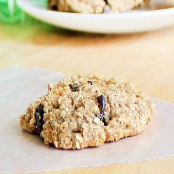 Flourless Oatmeal Raisin Cookies