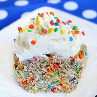 Funfetti Cupcake for One