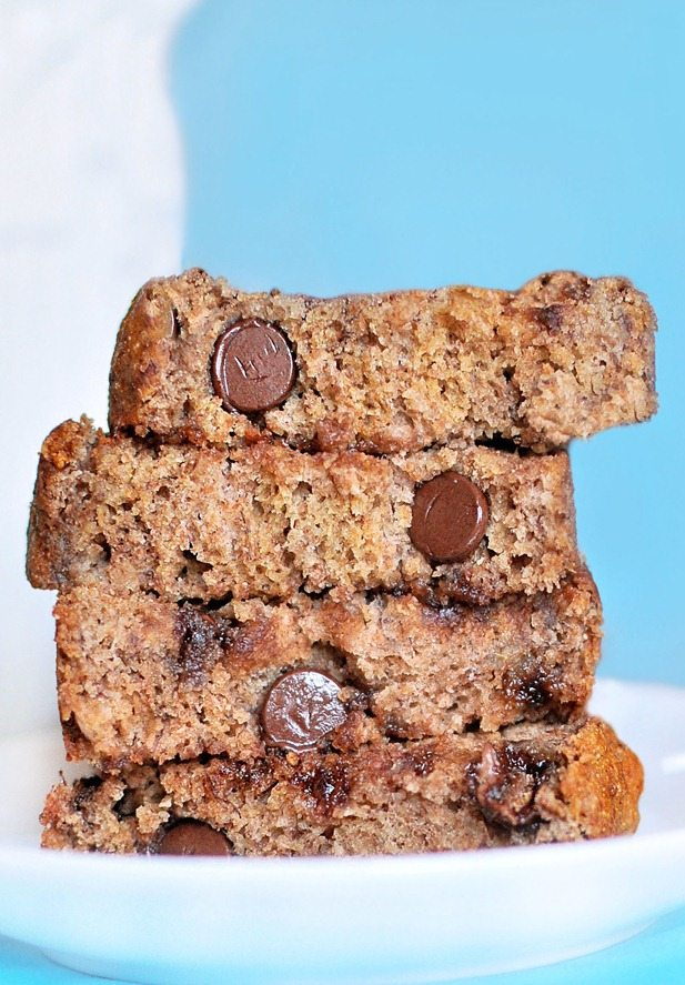 This is the BEST banana bread recipe I have ever found... 16,000 repins! @choccoveredkt - It is a MUST try! http://chocolatecoveredkatie.com/2011/11/02/polka-dot-banana-bread/