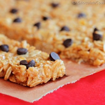 """3 Minute"" High Protein Granola Bars"
