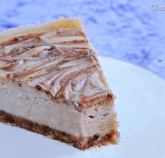 Raw Cinnamon Swirl Cheesecake