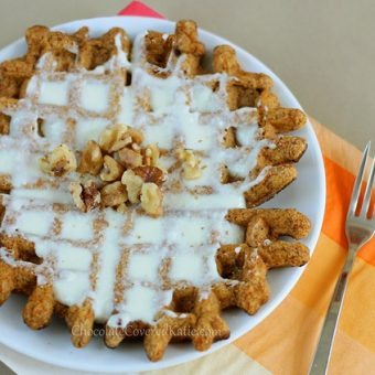 Super Healthy Carrot Cake Waffles