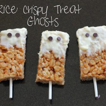 Spooky Peanut Butter Rice Krispy Treats