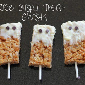 Spooky Peanut Butter Rice Krispy Treats
