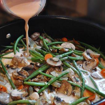 High Protein Mushroom Stroganoff