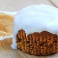 Sweet Potato Cupcakes with Marshmallow Cream Frosting