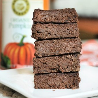 Chocolate Pumpkin-Pie Brownies