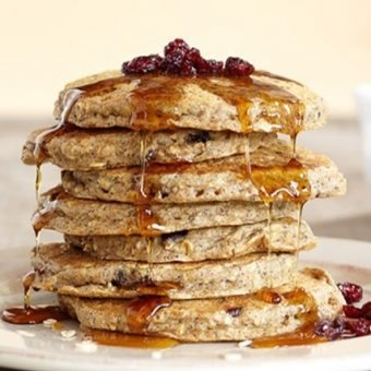 Trail Mix Cranberry Oatmeal Blender Pancakes
