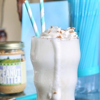 Peanut Butter Cookie Dough Milkshake